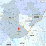 Roswell Georgia Zip Code Map