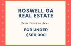Roswell GA Real Estate Market