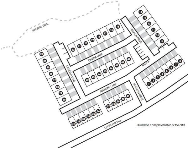 Site Map Park On Church Neighborhood