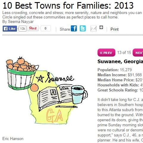 Suwanee Best Towns By Family Circle Magazine