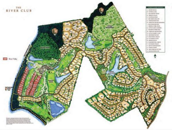 Suwanee GA Community The River Club Layout Site Plan