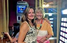 Tiffancy Roberts and money holder/Raffle Ticker seller, Mary Jo Piretti Miller