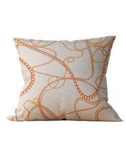 Almofada Decorativa Correntes Douradas - 45x45 - by #1 AtHome Loja