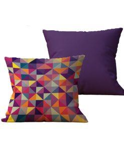 Kit com 2 Almofadas decorativas Geo MultiColor Duo - 45x45 - by #1 AtHome Loja