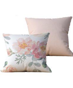 Kit com 2 Almofadas decorativas Flor in Nature - 45x45 - by #1 AtHome Loja