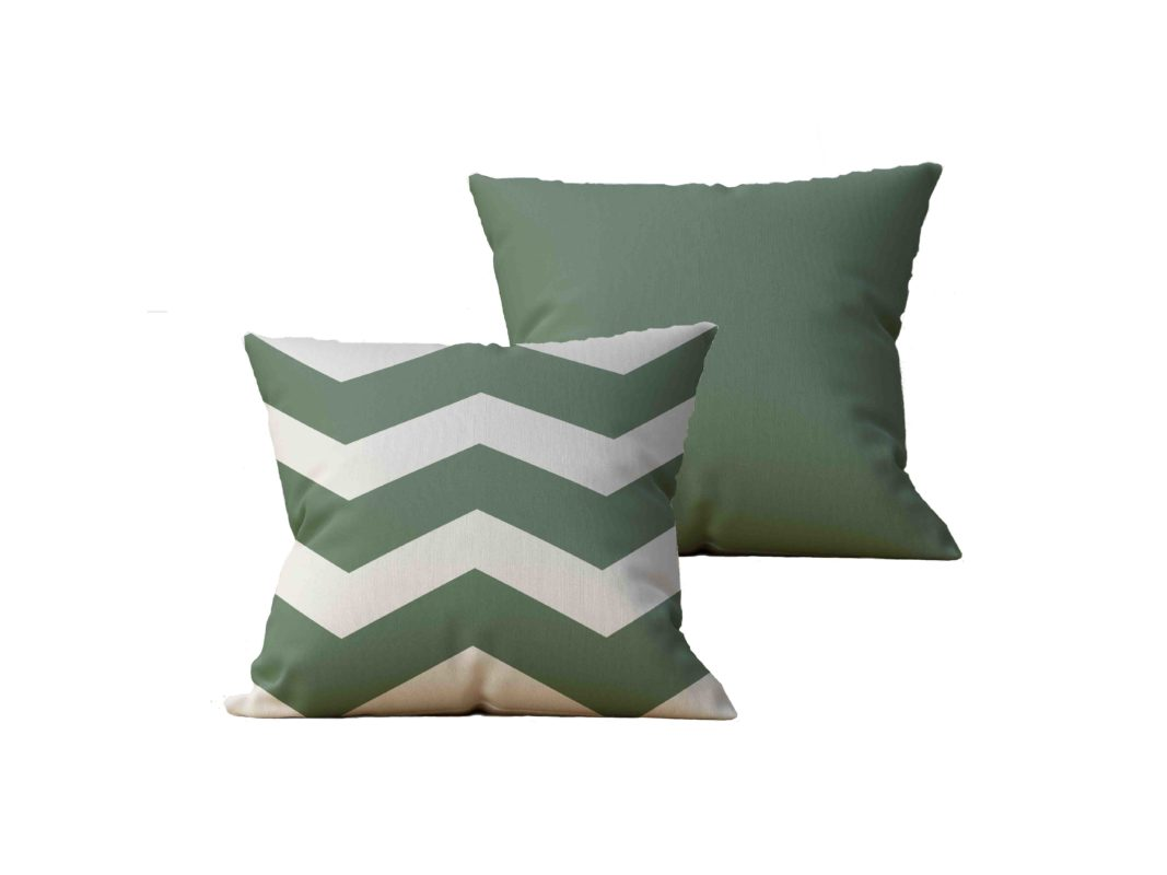 Kit com 2 Almofadas decorativas Vert Chevron - 45x45 - by #1 AtHome Loja