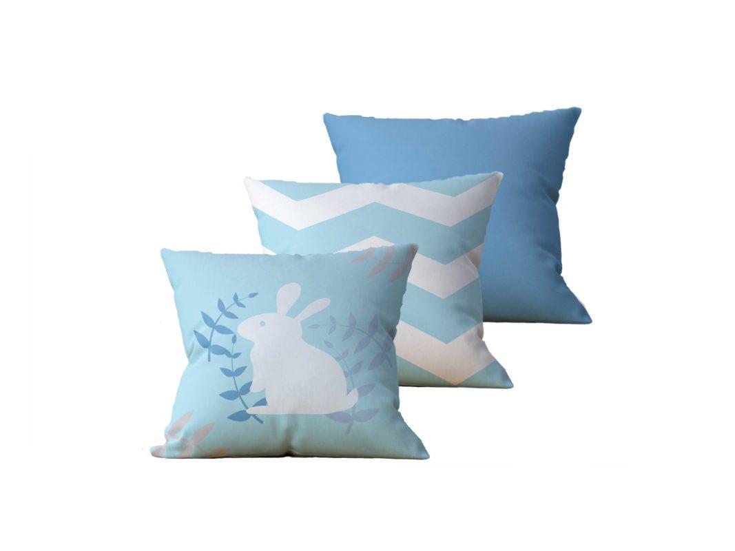 Kit com 3 Almofadas Decorativas Ostern Duo - 45x45 - by #1 AtHome Loja