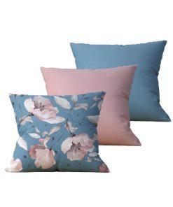 Kit com 3 Almofadas Decorativas Flor Essence - 45x45 - by #1 AtHome Loja