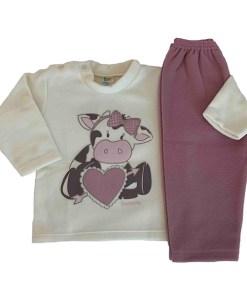 Pijama Infantil Dadomile Coraçāo - MicroSoft PET Thermo