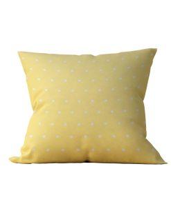 Almofada Decorativa Amarela com Bolinhas - 45x45