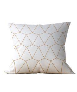 Almofada Decorativa Geométrica Branc Gilt - 45x45
