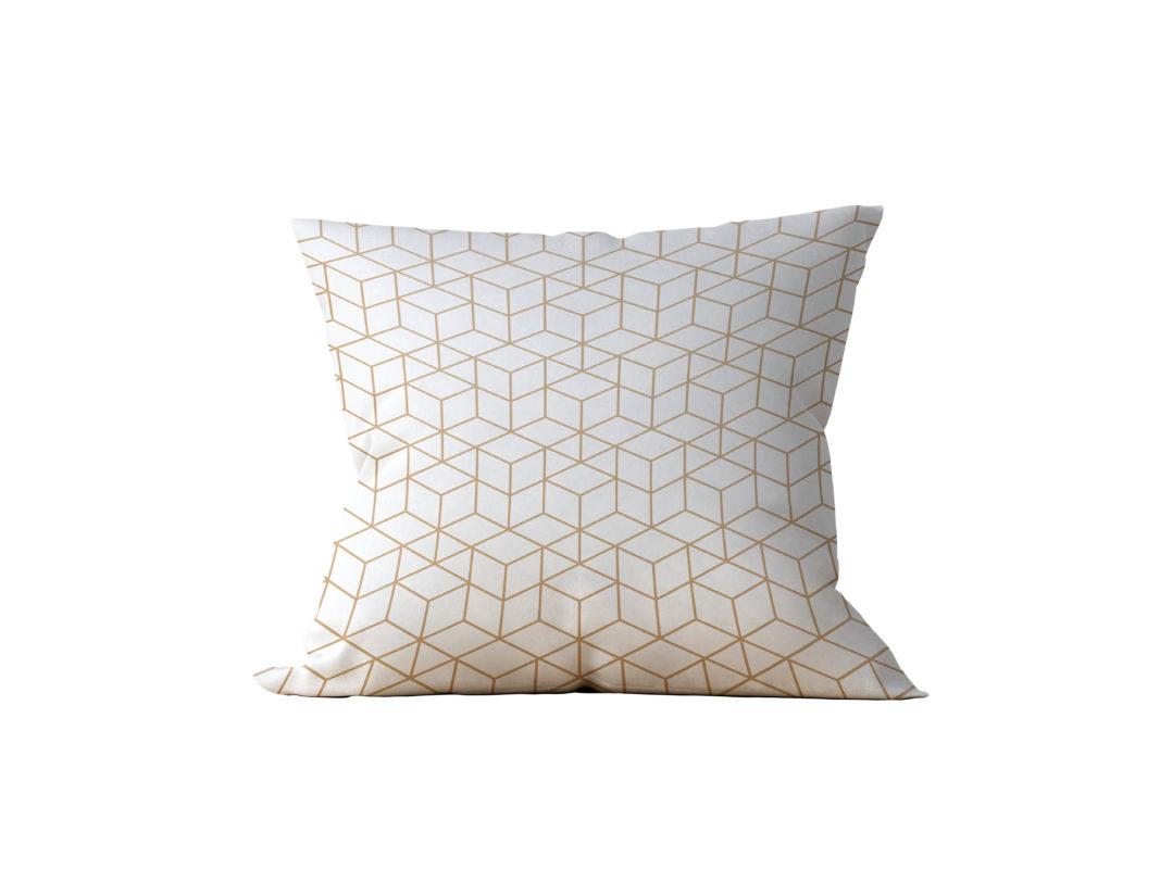Almofada Decorativa Geométrica Branc Gilded - 45x45