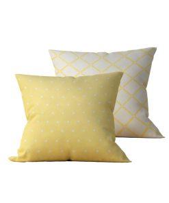 Kit: 2 Almofadas Decorativas Amarela Coat Duo - 45x45