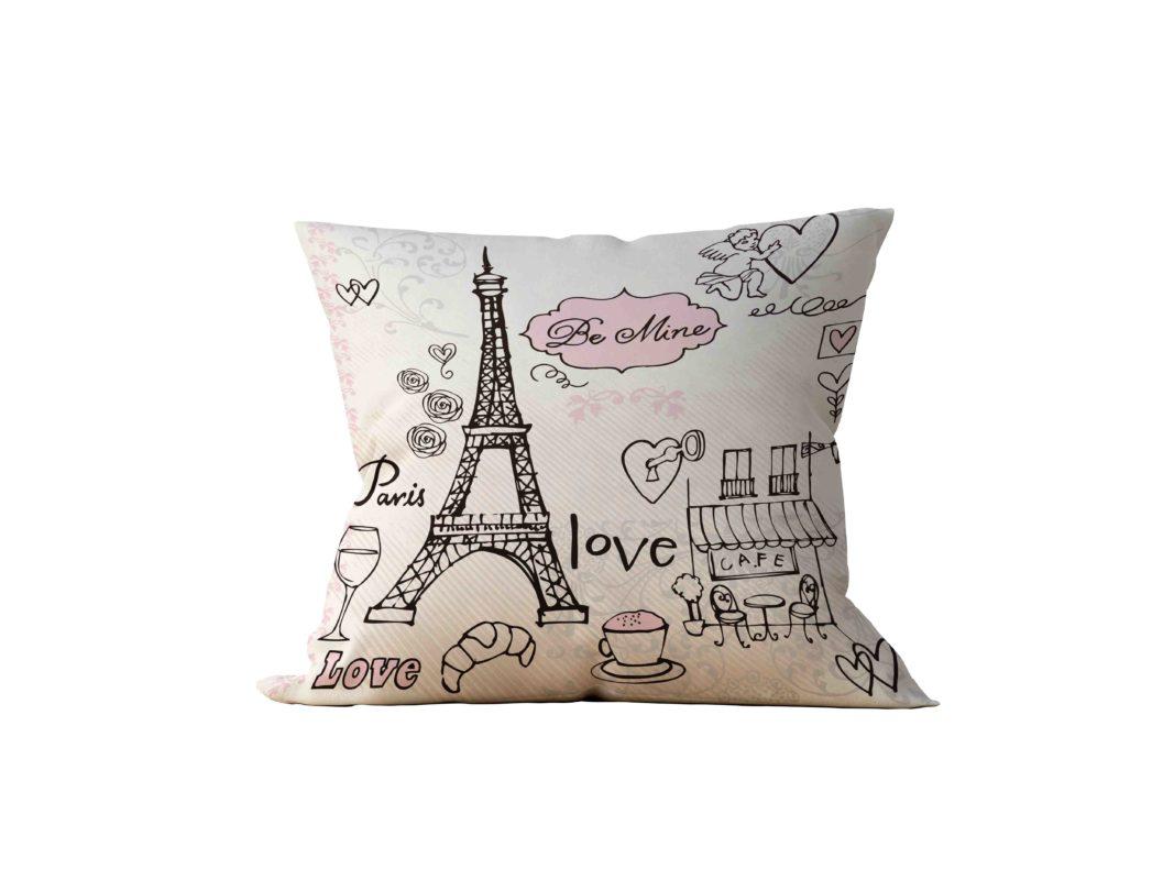 Almofada Decorativa Paris Life - 45x45