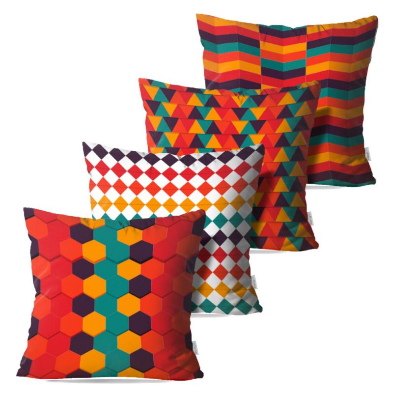 Kit: 4 Almofadas Decorativas Geome - 45x45