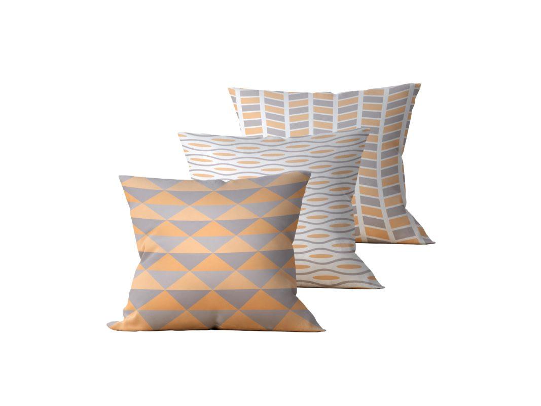Kit: 3 Almofadas Decorativas Omet - 45x45