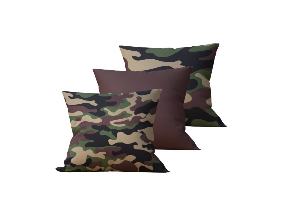 Kit: 3 Almofadas Decorativas Camuflado - 45x45