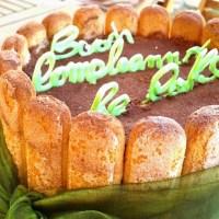 Buon primo compleanno Re-cake: torta tiramisù