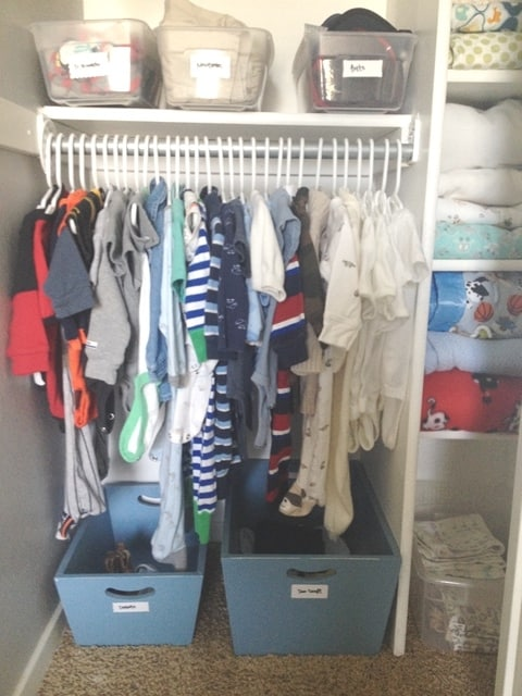 ... The Best Way To Organize Your Babyu0027s Closet. Tips For DIY Storage  Solutions In Small