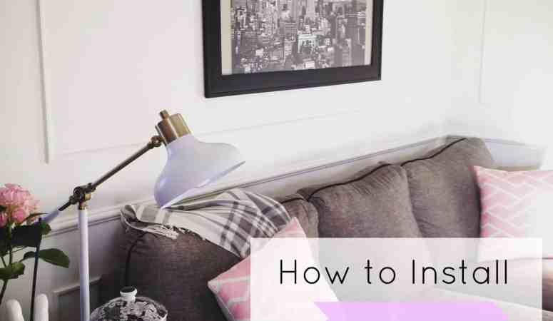 How to Install Picture Molding