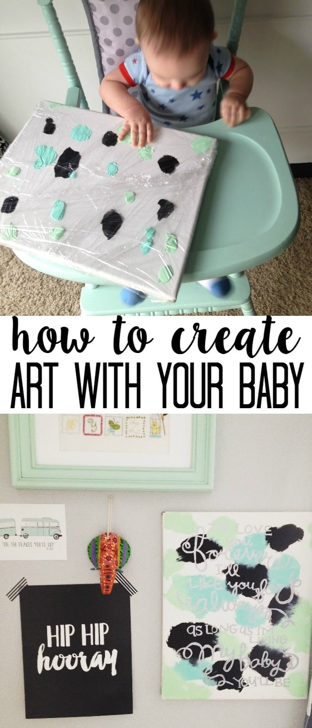 Create Art for your Decor with your Baby - at home with Ashley