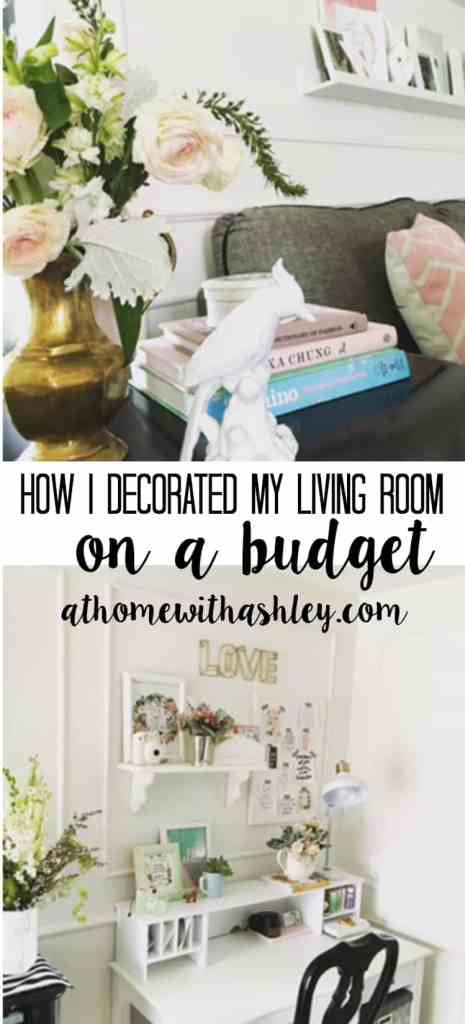 How I Decorated my Living Room on a Budget - at home with Ashley
