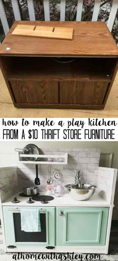 How To Make A Play Kitchen From A 10 Piece Of Furniture At Home With Ashley