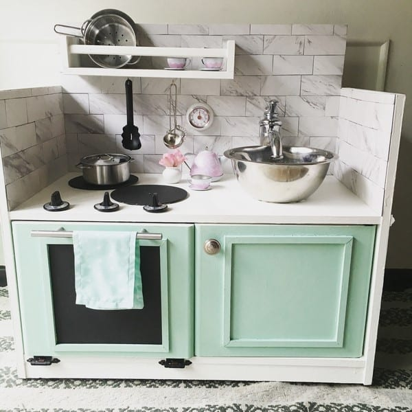 play kitchen how to make one from a thrift store find after