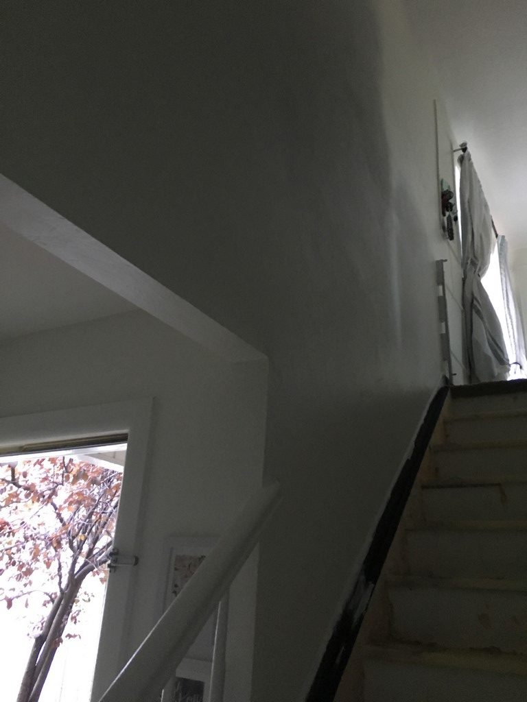 how to paint stairs without a ladder