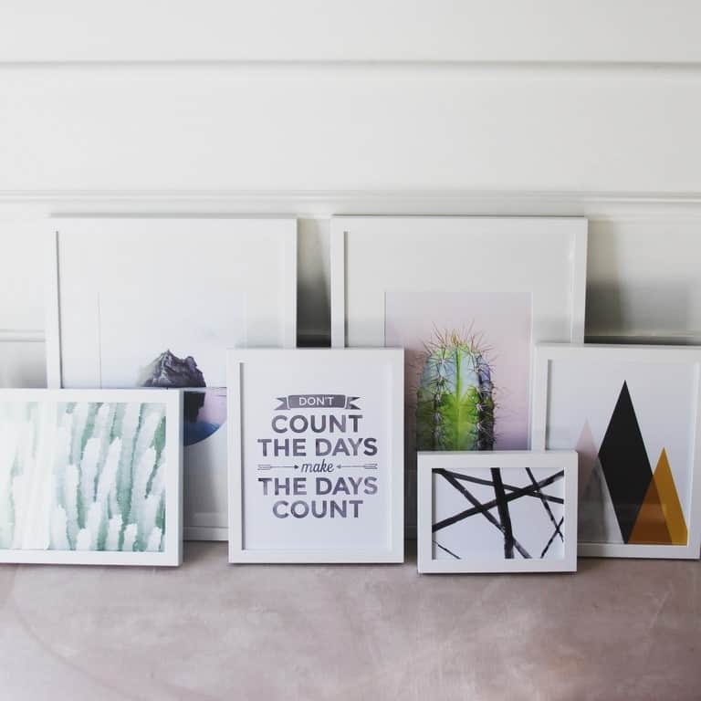Art for the Stair Gallery Wall - at home with Ashley