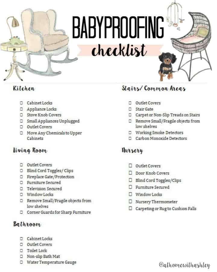 Babyproofing Checklist At Home With Ashley Gorgeous Baby Room Checklist