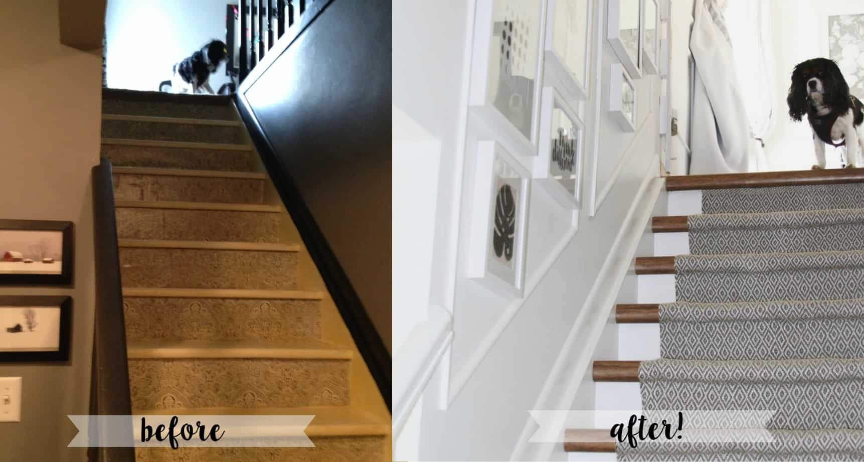 ... How To Redo Wooden Stair Treads For Cheap. This DIY Shows You Painted  Risers,