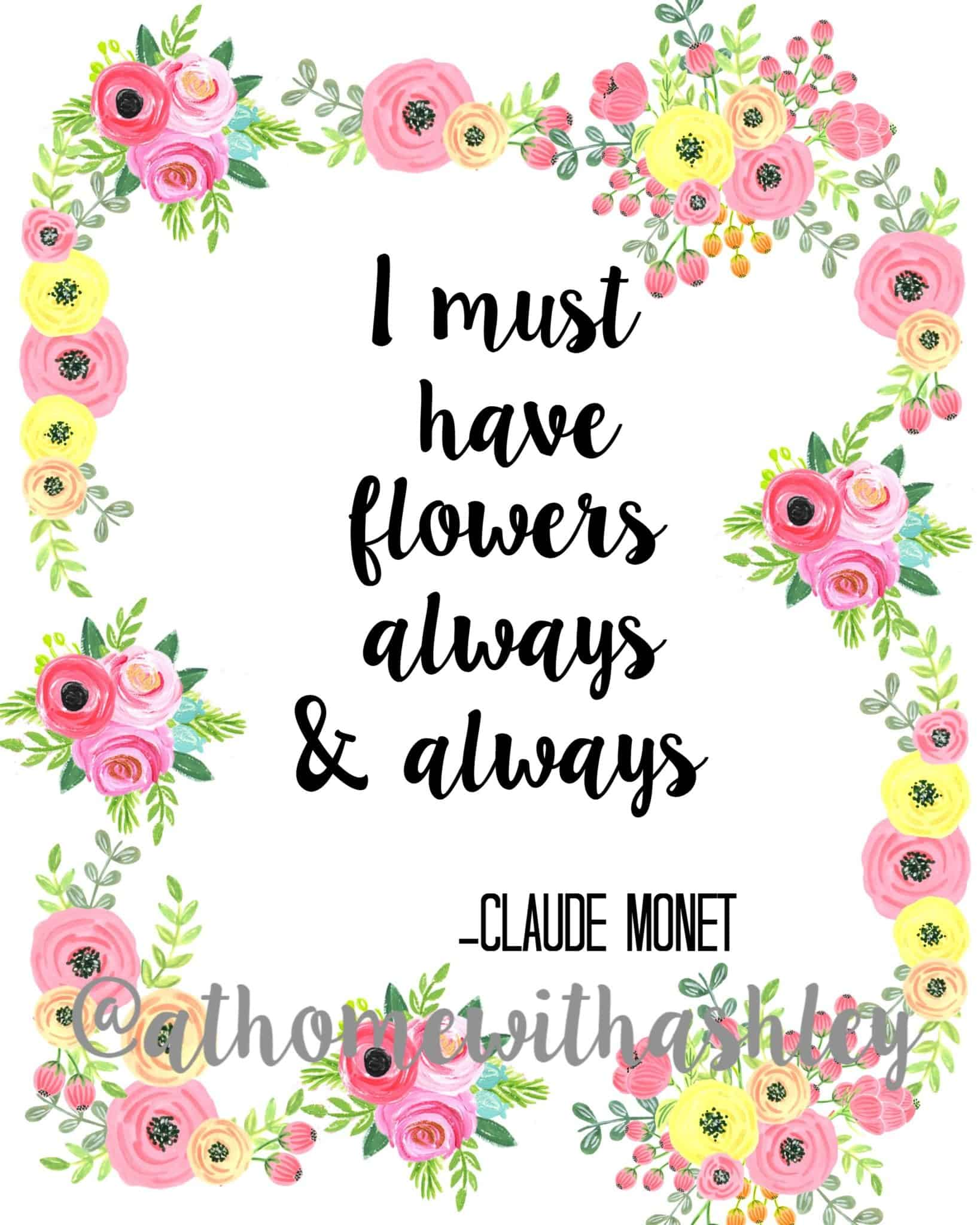 image relating to Free Printable Decor called Dwelling Decor Printables for Oneself! - at house with Ashley