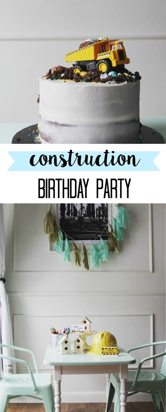 Are you thinking of throwing your child a construction birthday party? I have free printables for labels, food, decor, gift, and cake ideas #birthdayparty