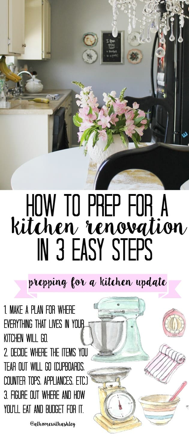 prepping for a kitchen remodel what to do first at home with ashley