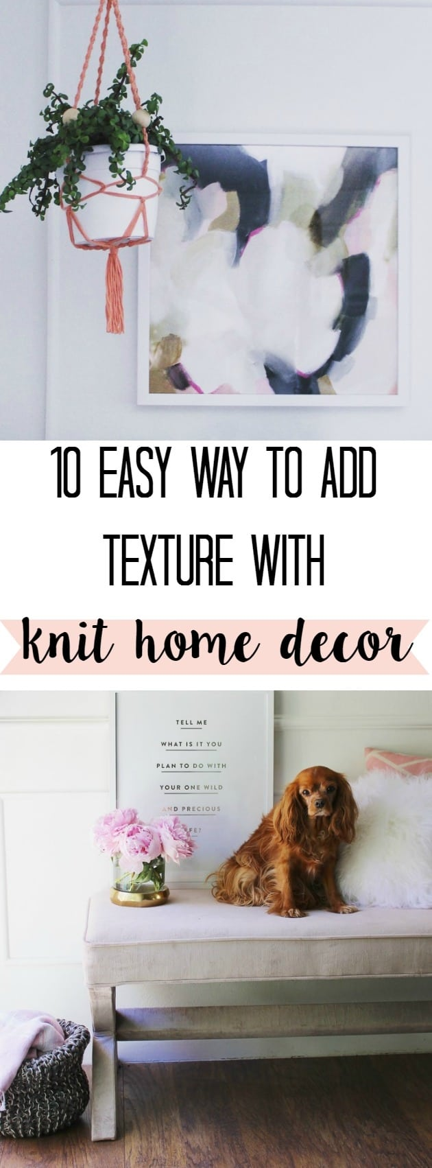 10 Knit Home Decor Ideas - at home with Ashley