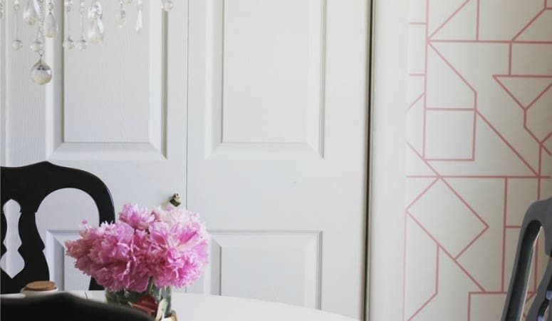 How to Install Removable Wallpaper- Dining Room