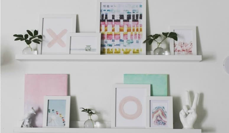 How to Style a Ledge Gallery Wall