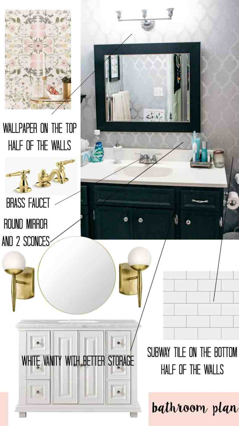 Bathroom Redo- Let\'s Begin!!! - at home with Ashley
