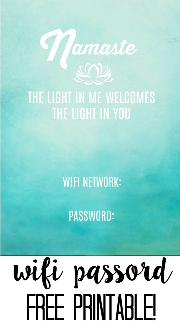 photo relating to Wifi Password Printable Free identify No cost Wifi Pword Printable! - at house with Ashley