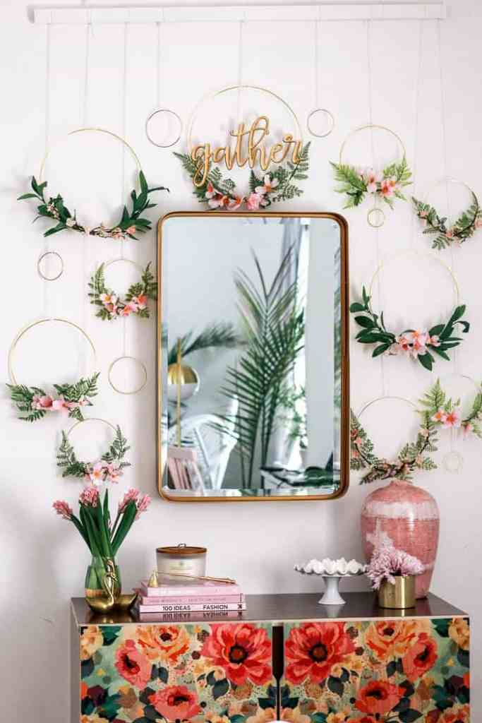 Diy Spring Wreath Backdrop At Home With Ashley