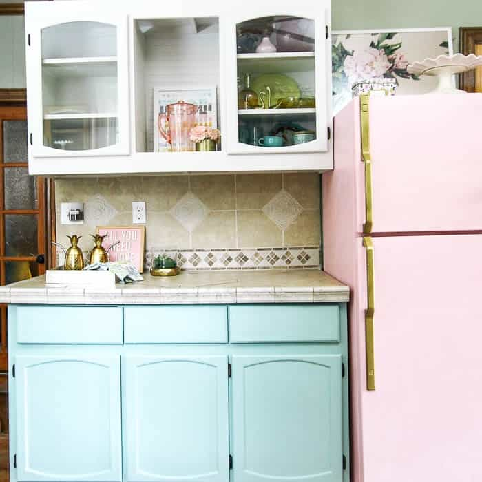 How To Paint your Kitchen Cabinets - at home with Ashley