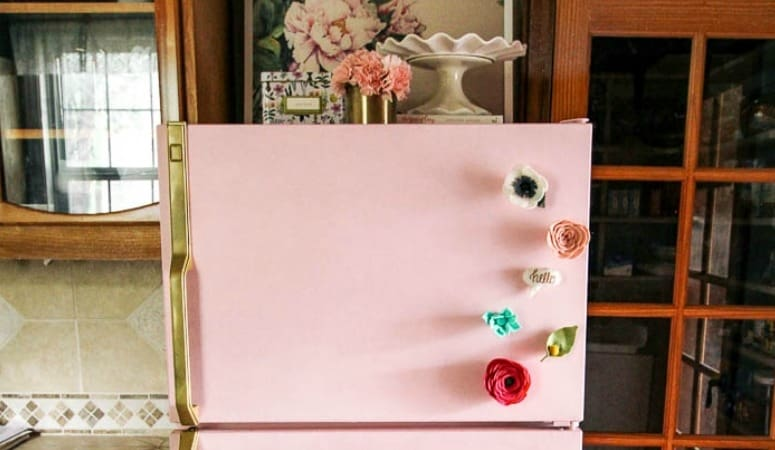 How To Paint A Fridge (without the paint scratching off)