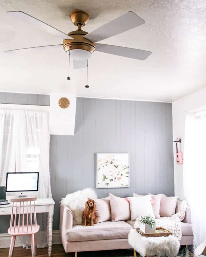 Ceiling Fans that aren't boring! Guess what, you can have a pretty house AND have a fan! They come in all styels- modern, farmhouse, coastal or industrial. Choose them with or without a light. And in all colors including white, black, brass, or wood tones. This is the perfect functional and stylish update for your bedroom, living room or kitchen.