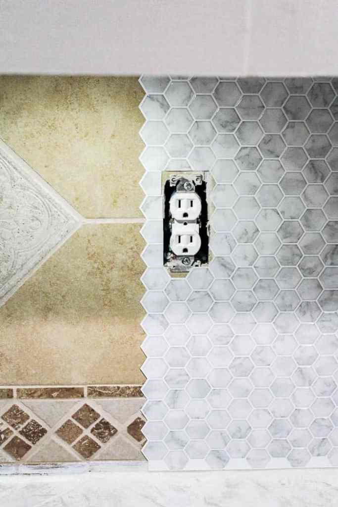 Fabulous Diy Peel And Stick Backsplash Tile At Home With Ashley Home Remodeling Inspirations Propsscottssportslandcom