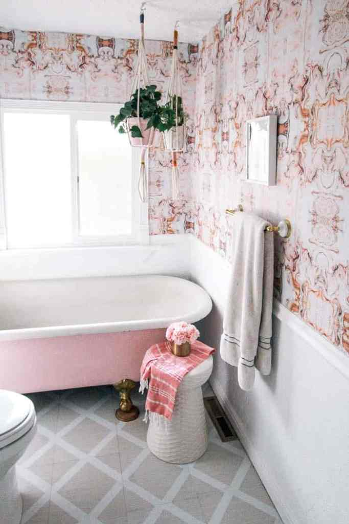 Groovy Peel And Stick Bathroom Tile At Home With Ashley Beutiful Home Inspiration Ommitmahrainfo