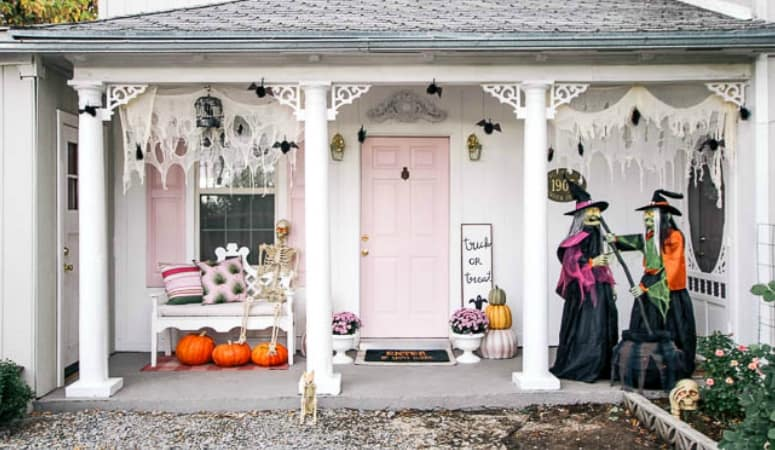 Spooky and Sweet Halloween Porch