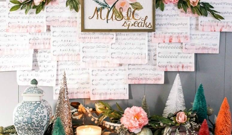 DIY Music Backdrop
