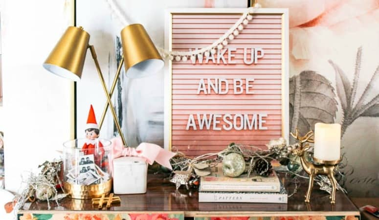 Office Holiday Decor + Hosting with Intention