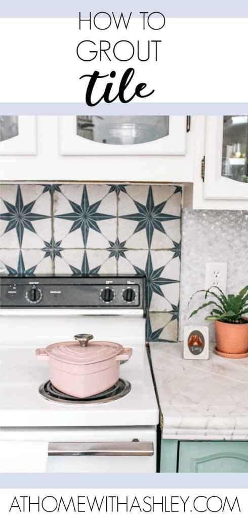 how to grout tile on a backsplash. A video tutorial on how to tackle this DIY kitchen project. Tips to make it easy and do it right
